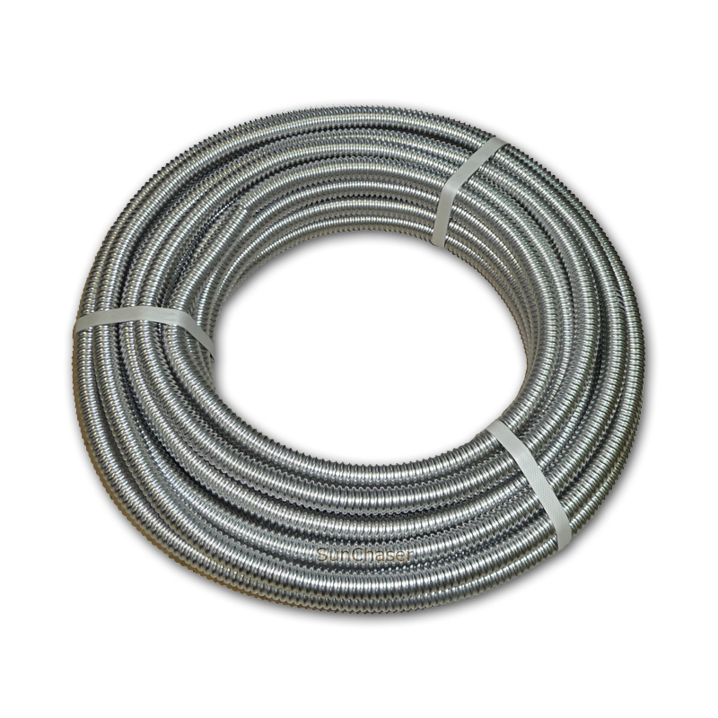 Stainless steel flex tubing 1 2 for solar water heater for Flexible copper tubing water heater